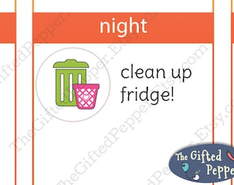 Trash stickers [Printable]. For Erin Condren Planner. Stickers, printable calendar stickers