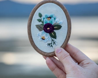 Mini Floral Embroidery Hoop