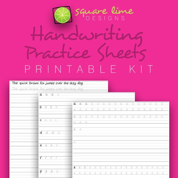 Handwriting Practice Sheets Uppercase Lowercase