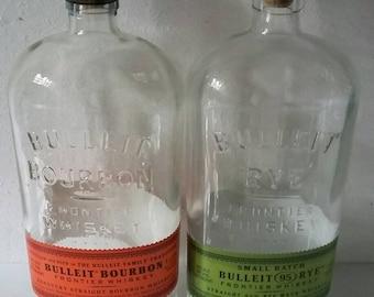 12 EMPTY BULLEIT BOURBON /whiskey /wine/beverage bottles 750 ml
