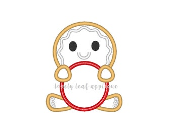 DIGITAL ITEM: Gingerbread Monogram Applique Design