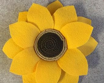 Large felt sunflower, sunflower, felt, artificial flowers, decor