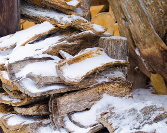 Winter Snow Photography Digital Download - Wood Pile - Rustic Image - Instant Download - Greeting Card - Christmas Card - Note Card