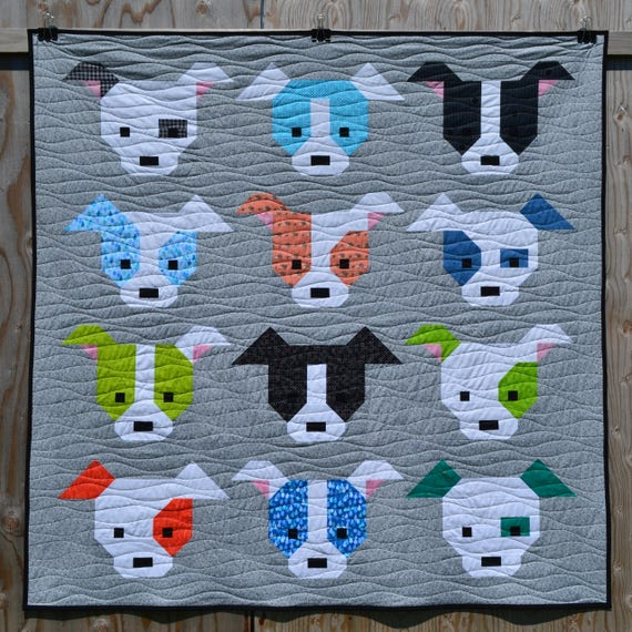 Dog Gone Cute Quilt Pattern PDF Instant Download modern : cute quilt - Adamdwight.com