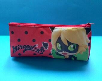 School Bag Set Backpack Miraculous Ladybug Pencilcase Lunchbox Bottle  Original