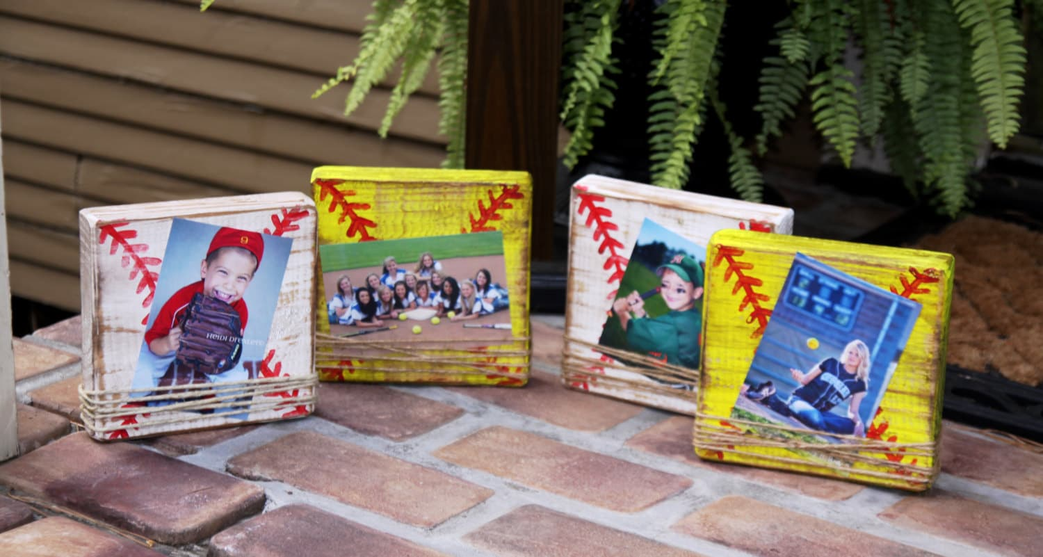 Baseball frame Softball frame baseball block picture frame