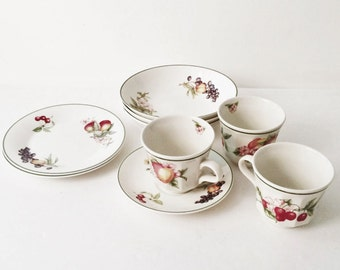 Victorian Orchard  by Churchill , Big discount on assortment of pieces you get 3 Teacups, 3 bowls, 2 salad plates, 1 saucer