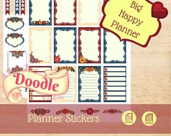 Art Flowers | Big Happy Planner Stickers | Big Happy Planner | Create 365 Stickers | MAMBI Stickers