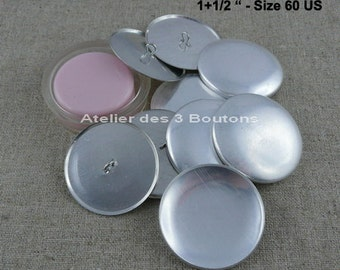 """5 Cover Buttons 1.1/2"""" (Size 60) with assembly tool"""