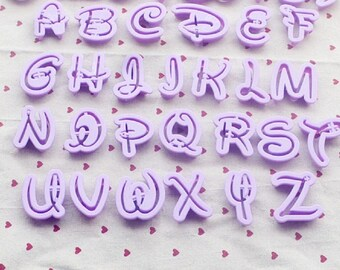Set of 26 away Pieces letters Alphabet writing fairy Cake Design