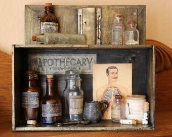 The Apothecary Box - Found Object Assemblage