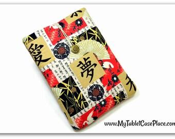 Tablet Case, iPad Cover, Asian, Love, Dream, Peace iPad Mini Case, Kindle Fire Cover, Tablet Sleeve, Cozy, Handmade, FOAM Padding, Gift