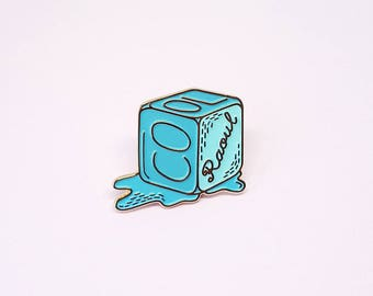 "Enamel pin ice cube ""Cool Raoul"""