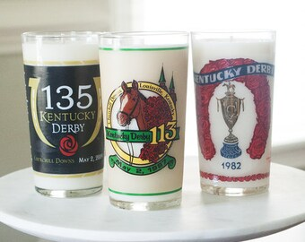 vintage derby glass candles