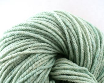 Hand Dyed Aran weight mini Empire Rambouillet Wool 213 yds 4oz Icicle