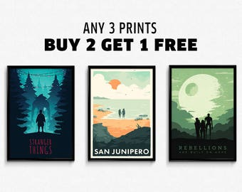 Any 3 Prints & Posters - Buy 2 Get 1 FREE