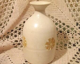 Vintage Pottery Sake Bottle Vase