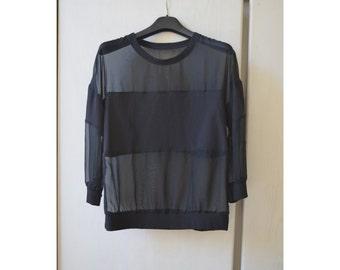 Black transparent woman jersey