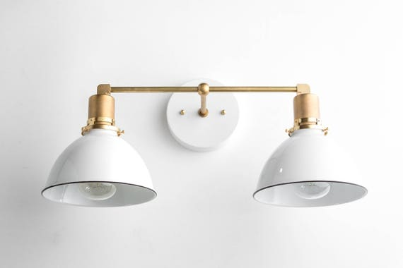 Bathroom Light Fixture With Outlet Plug: Bathroom Wall Light Industrial Vanity Light Brass Light