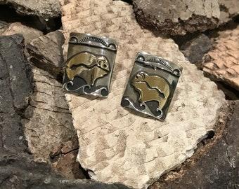 Buffalo post Earrings by Tommy Singer