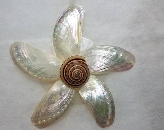 Abalone Shell Ornament, Seashell Snowflake Ornament, Snowflake, Seashell Ornament, Seashell Christmas Ornament, Coastal Christmas Ornament