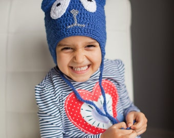 Peg + Cat Hat, crochet hat, Toddler Peg + Cat Hat - Winter hat, Toddler Halloween costume, blue cat hat, Toddler costume