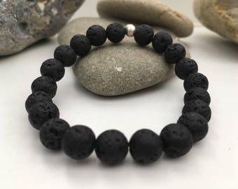 Handmade Lava Stone Bead Essential Oils Diffuser Bracelet