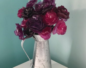 Decorative Carnations (Upcycled Water bottles)