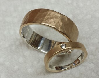 Mens Wedding Band Rustic Statement Ring Industrial Bronze