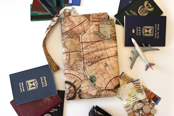 Family passport holder family travel wallet world map family passport holder family travel wallet world map travel organizer map print passport case passport cover large passport wallet gumiabroncs Images