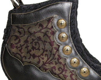 Victorian Swirls Boot Handbag - One of a kind