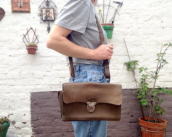 Vintage french pannier post office LA POSTE / french worker mail bag 60s