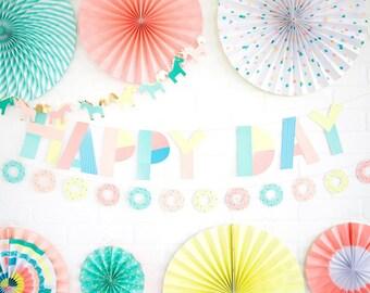 Unicorn Party Banner - Unicorn Party - Unicorn Banner Birthday - Unicorn Paper Garland - Unicorn Baby Shower - Unicorn Birthday Banner