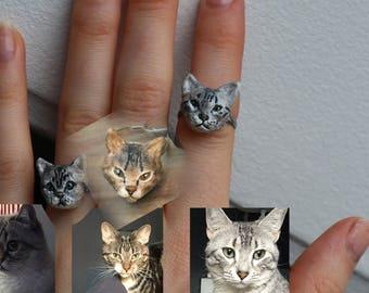 Custom pet ring, custom dog ring, custom pet jewelry, custom cat jewelry, cat ring, dog ring, valentine gift