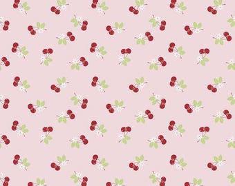 SEW CHERRY fabric cotton patchwork Sew Cherry 2 cherry pink x50cm