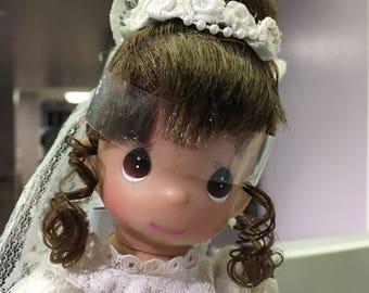 Vintage Precious Moments Miniature Bride Doll