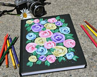 Rosette Hand-Painted Sketchbook
