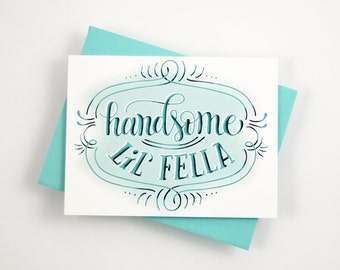 Handsome little fella - one card with a turquoise envelope