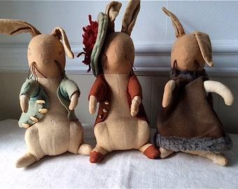 Old Peter Rabbit Cloth Rabbits