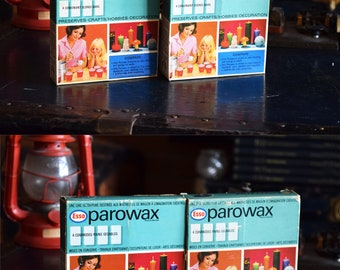 Esso Parowax Extra Pure Wax Bars  - 2 Boxes and 8 Wax Bars - Comes in Original Boxes - Imperial Oil Limited - Made in Canada