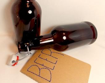 Beer Journal for Men -  Upcycled Moleskine notebook, Homebrew journal for men, gift for husband
