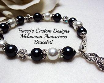 Stunning MELANOMA AWARENESS BRACELET - Custom made designs.