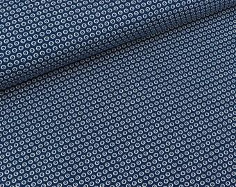 Cotton Jersey googly navy blue-white (19.60 EUR/meter)