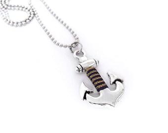 Anchor Necklace Men necklace  Nautical Necklace Mens gift Men's Necklace Men's Anchor Necklace Gift for Him Anchor jewelry Nautical jewelry