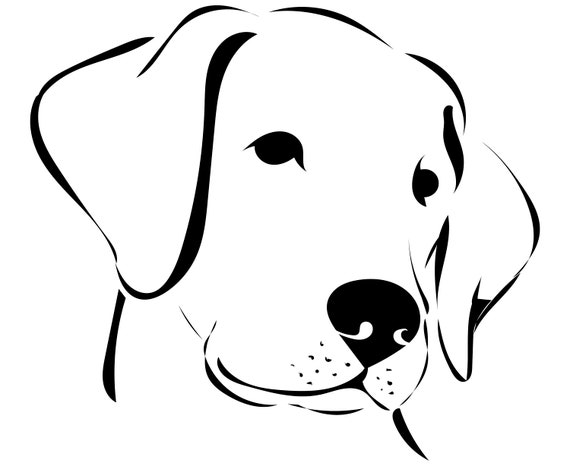 Line Drawing Of A Dog S Face : Dog face svg labrador retriever