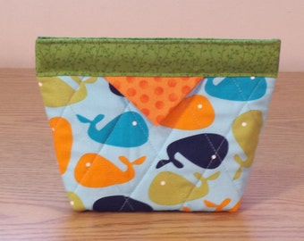 Quilted Snap Bag (SB012) Whales