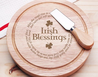 Irish Blessings Gourmet 5pc. Cheese Board Set - Holiday Gifts (JM6778824-CS913)