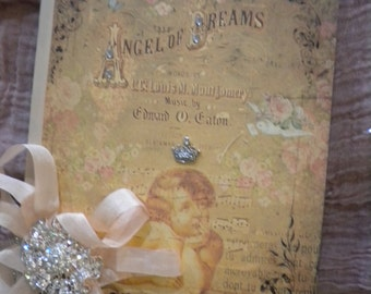 "Shabby Chic Altered Journal:  ""Angel of Dreams"""