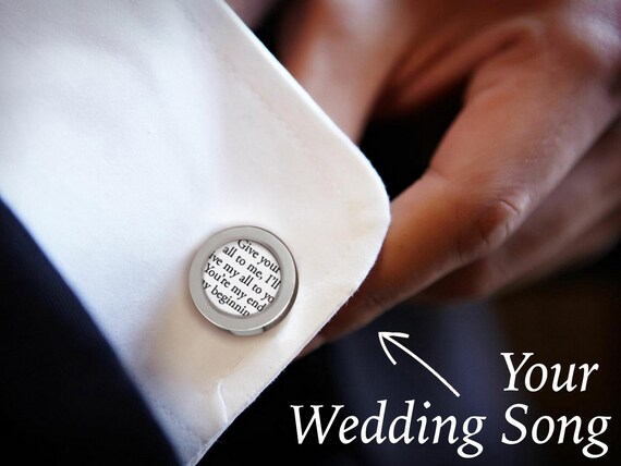 Personalized Wedding Cufflinks / Groom Cufflinks / Custom