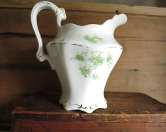 Antique W.H. Grindley & Co. Pitcher / Creamer Staffordshire, England Cottage Style Tea Time